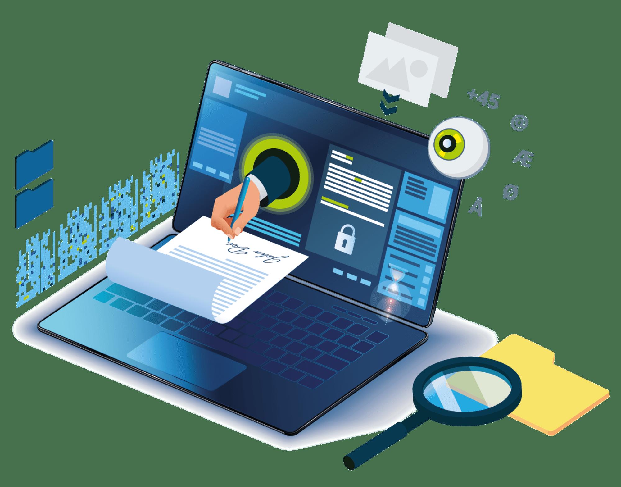 OCR service og pdf signering